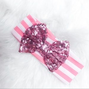 Boutique Baby Toddler Headband Sequin Bow